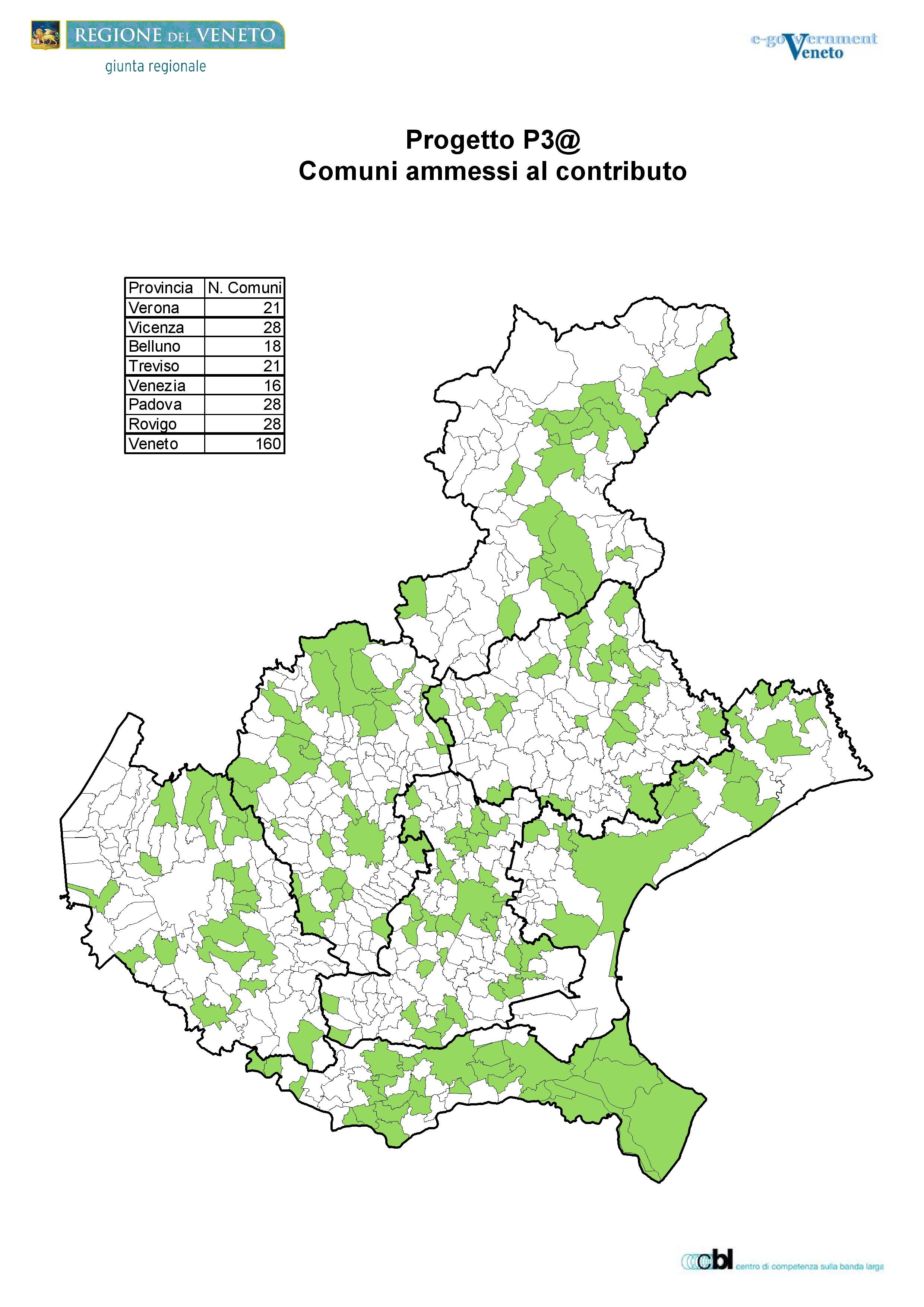 Cartina Comuni Del Veneto.Centri Attivati Regione Del Veneto